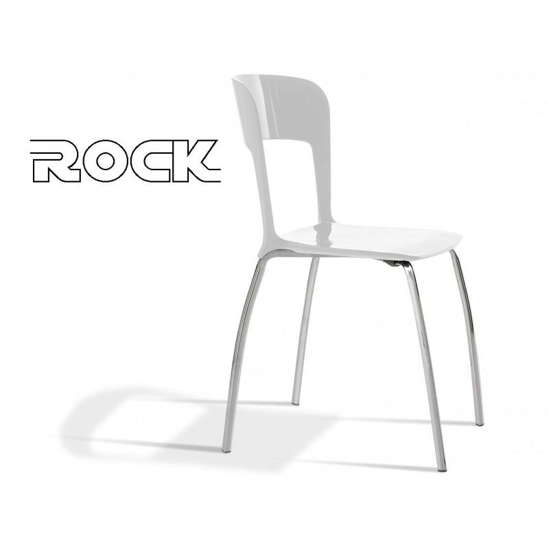 ROCK chaise design assise couleur en polypropylène, finition blanc.