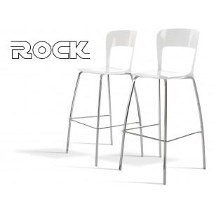ROCK tabouret de bar design assise couleur en polypropylène, finition blanc.