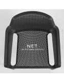 Fauteuil design NET, structure et assise plastique couleur.
