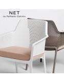 Fauteuil lounge NET relax, structure et assise plastique couleur.