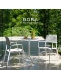 Collection RIVA, BORA, COSTA sturcture et assise plastique couleur.