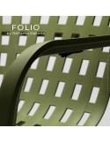 Fauteuil bergère FOLIO, structure et assise plastique.