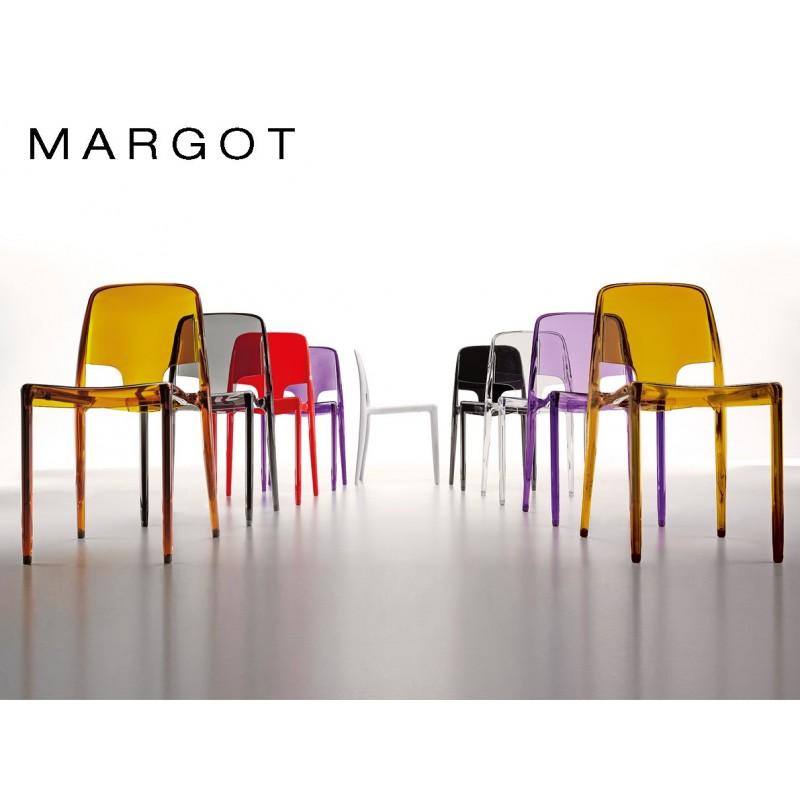 Chaise design margot structure plastique en polypropyl ne - Chaise de couleur design ...