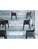 PLUS fauteuil design plastique ensemble.