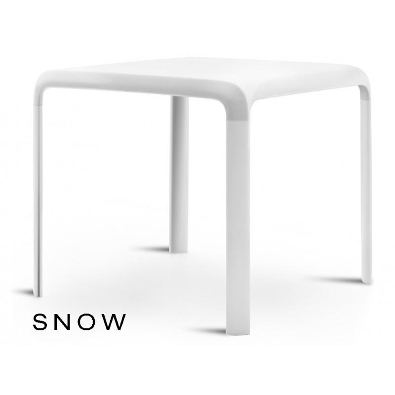 SNOW table pour terrasse, couleur blanche (lot de 6 tables).