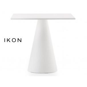 IKON table design conique blanche (lot de 3 tables).