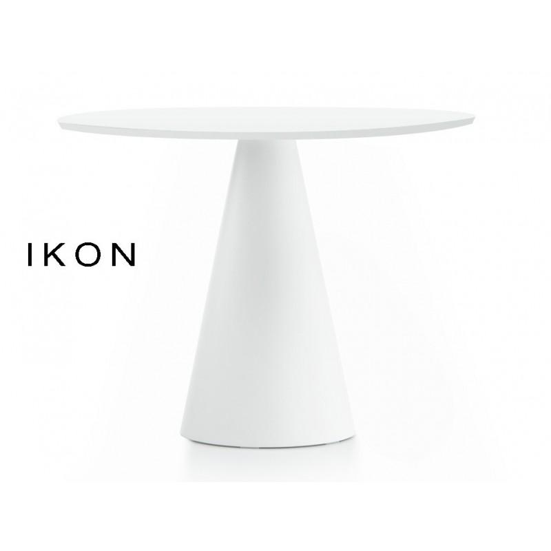 IKON table ronde design pied conique (lot de 3 tables).