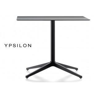 YPSILON table pour bar carré ou rectangulaire noir (lot de 3 tables).