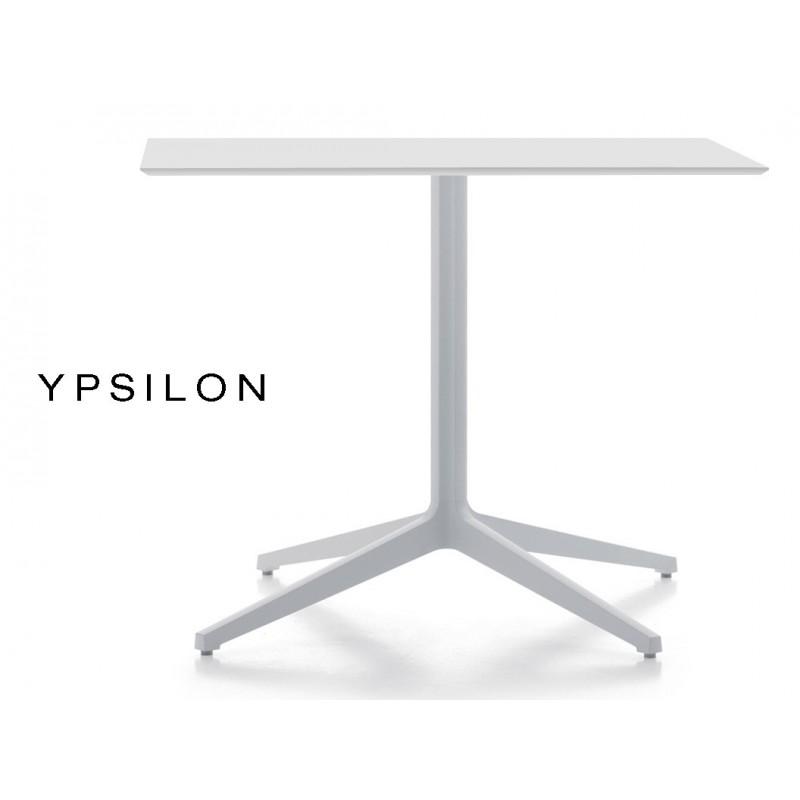YPSILON table pour bar carré ou rectangulaire blanche (lot de 3 tables).