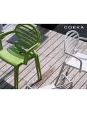 COKKA chaise design pour terrasse (lot de 6 chaises).