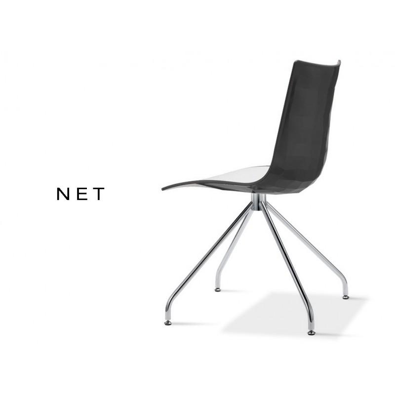 NET Chaise Coque Bicolore Noir Lot De 6 Chaises