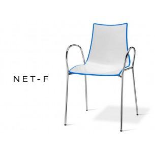 NET-fauteuil bicolore dos multifacettes bleu (lot de 6 fauteuils).