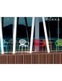 COKKA fauteuil design pour terrasse (lot de 6 chaises).