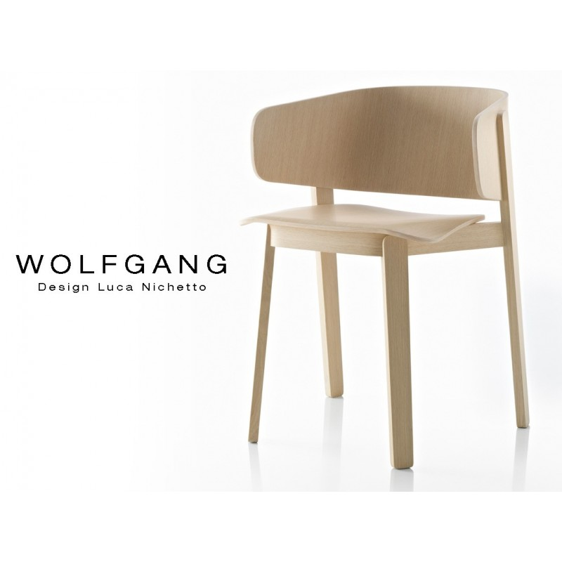 Fauteuil Design Bois Wolfgang Structure Et Assise Chene Vernis