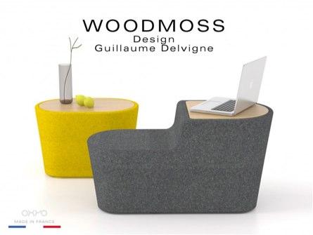 t, le modèle Woodmoss possède une structure en bois recouverte de mousse et de tissu (laine mélangée